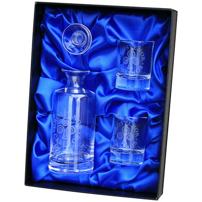Image of Mini Decanter and 2 Shot Glasses Gift Set