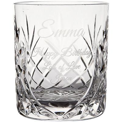 Image of 400ml Glencoe Lead Crystal Panel Whisky Tumbler